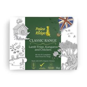 Paleo Ridge Classic Kangaroo Lamb Tripe and Chicken 1kg